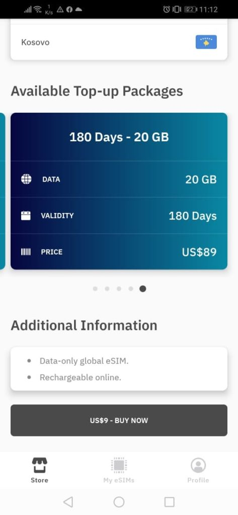 esim global airalo app