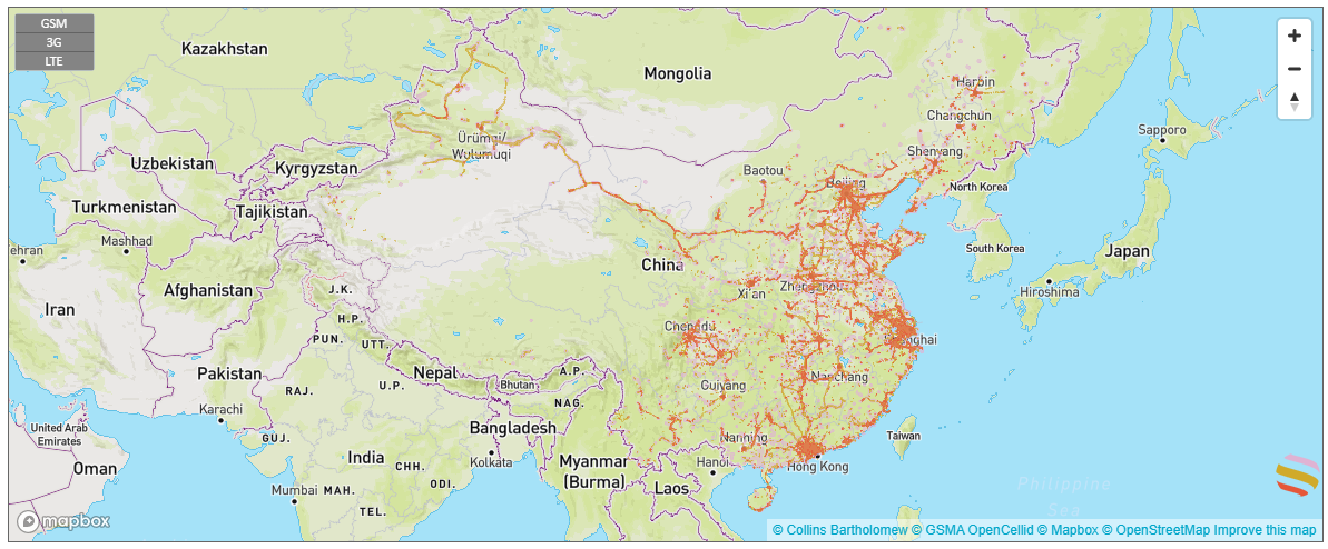 coverage map in china